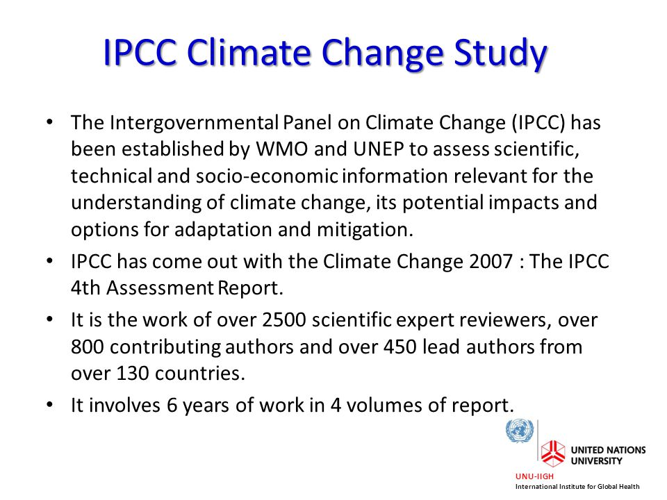 UNU-IIGH International Institute for Global Health How Does Climate Change Affect Human Health .