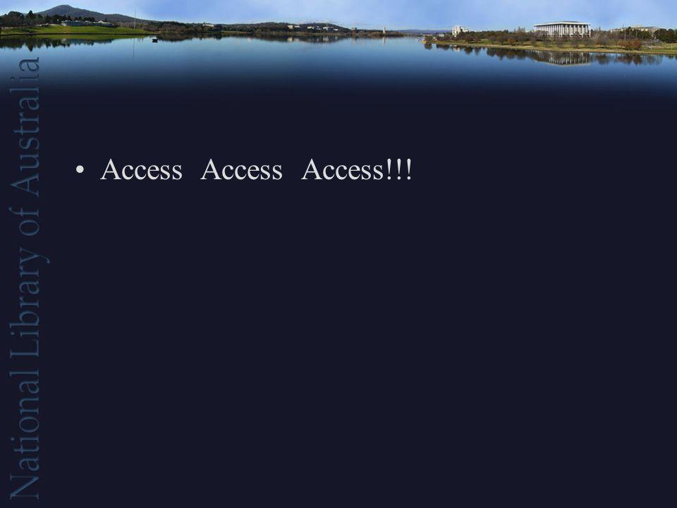 Access Access Access!!!