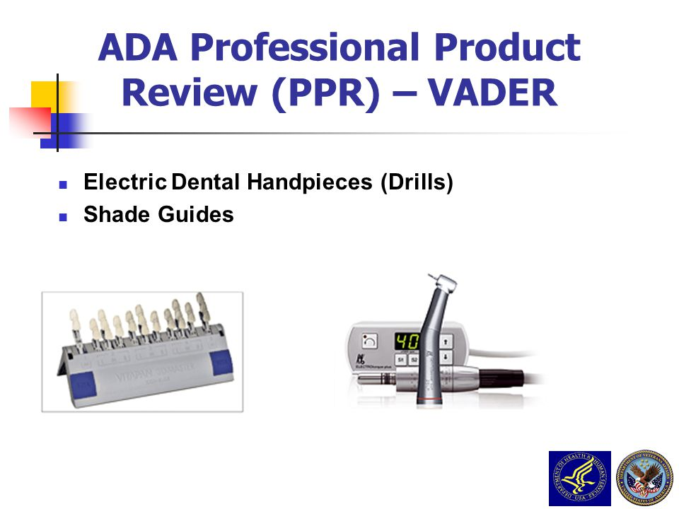 Electric Dental Handpieces (Drills) Shade Guides