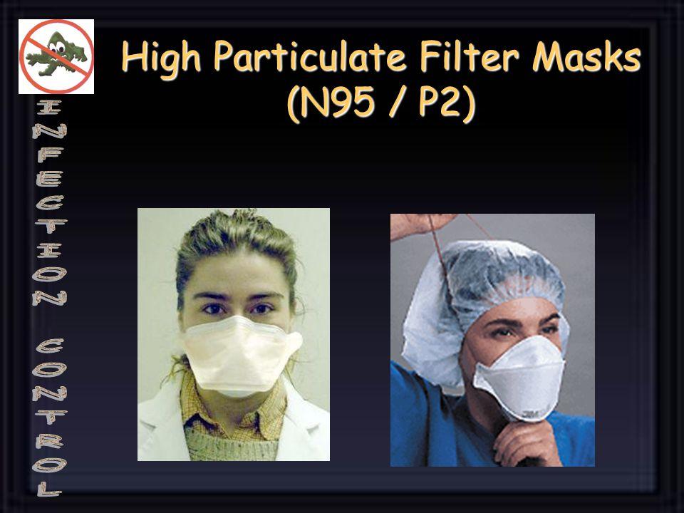 High Particulate Filter Masks (N95 / P2)