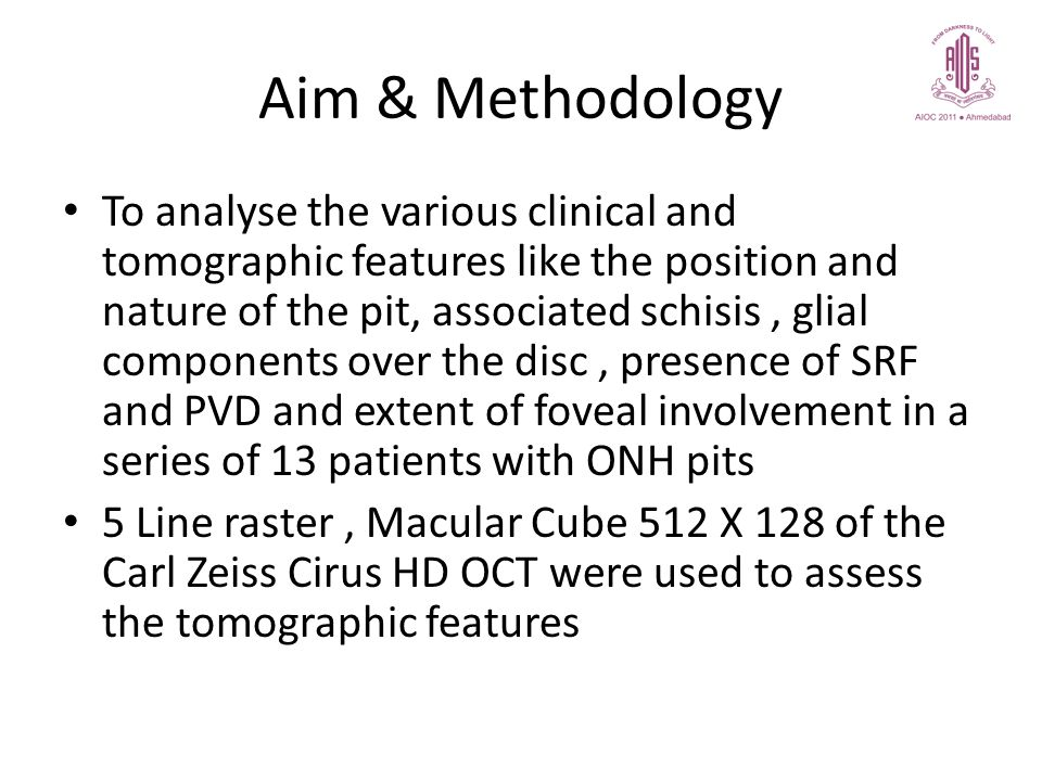 Aim & Methodology To analyse the various clinical and tomographic features like the position and nature of the pit, associated schisis, glial componen