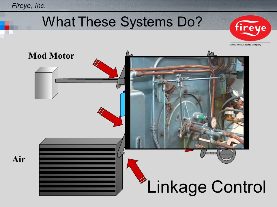 Linkage Control Air Fuel Mod Motor Fireye, Inc. What These Systems Do?