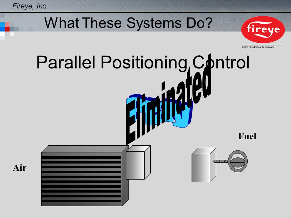 AIR SERVO CONTROL FUEL SERVO CONTROL DISPLAY CONTROLLER PROCESS SENSOR O2 PROBE 8625 Lbs/hr Steam - 250HP Examples