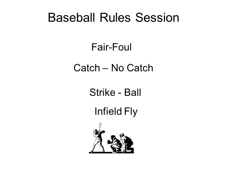 Baseball Rules Session Fair-Foul Catch – No Catch Strike - Ball Infield Fly