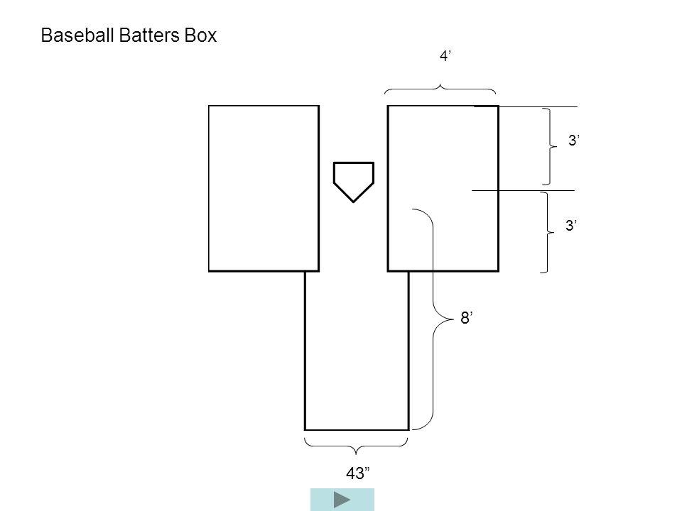 Baseball Batters Box 4 3 8 43 3