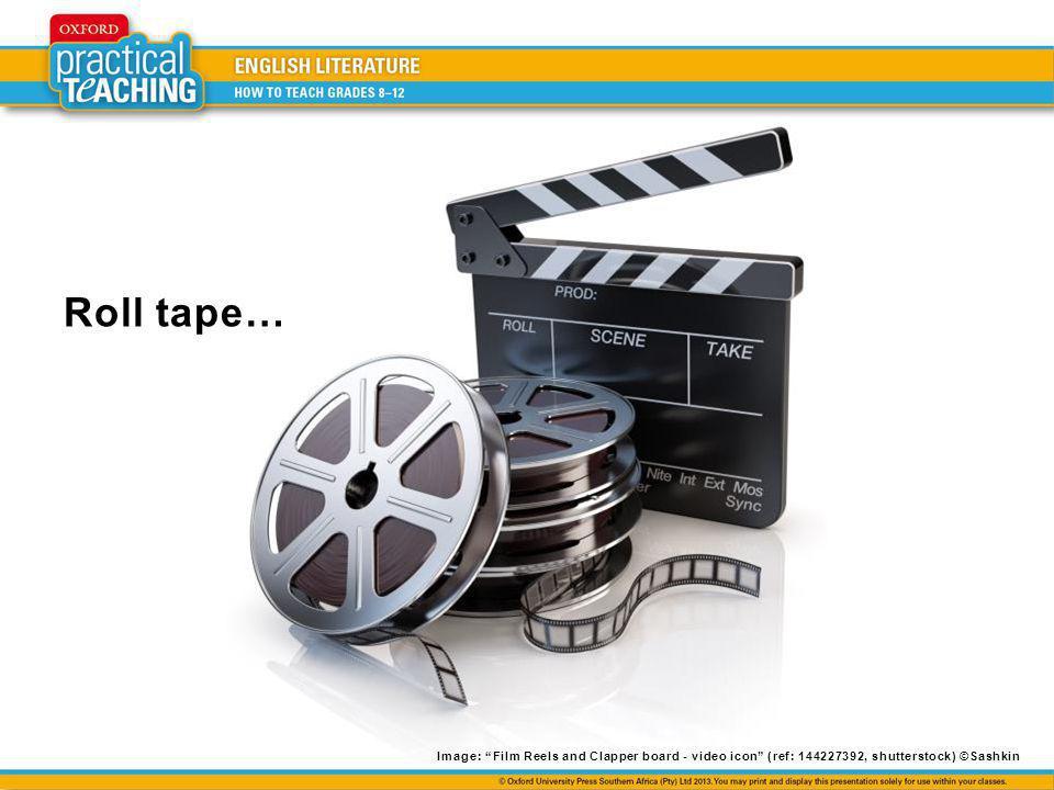 Roll tape… Image: Film Reels and Clapper board - video icon (ref: 144227392, shutterstock) ©Sashkin