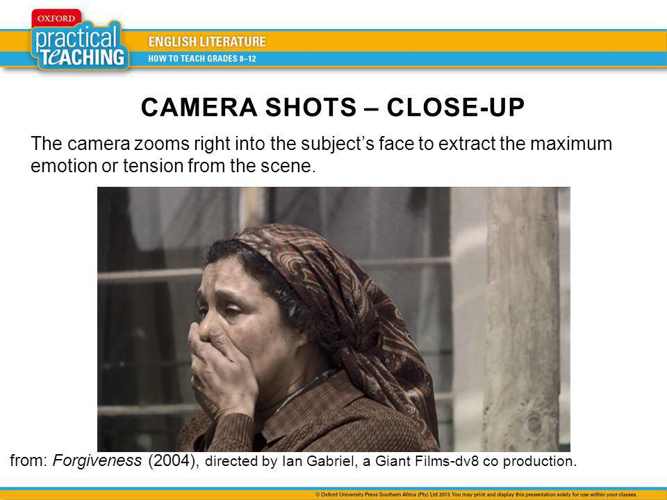 The camera zooms right into the subjects face to extract the maximum emotion or tension from the scene.
