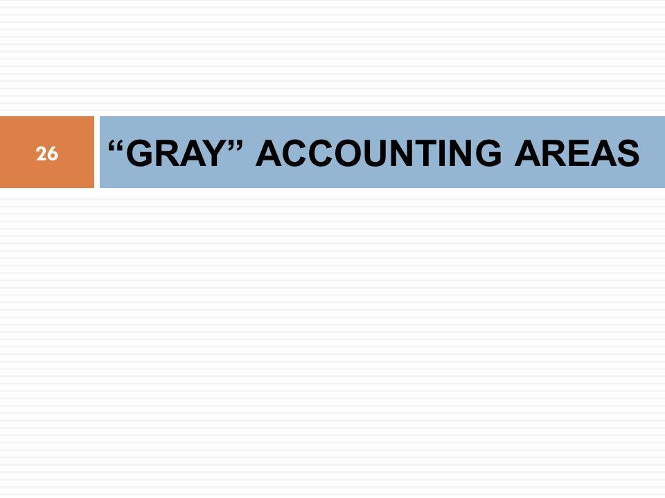 GRAY ACCOUNTING AREAS 26