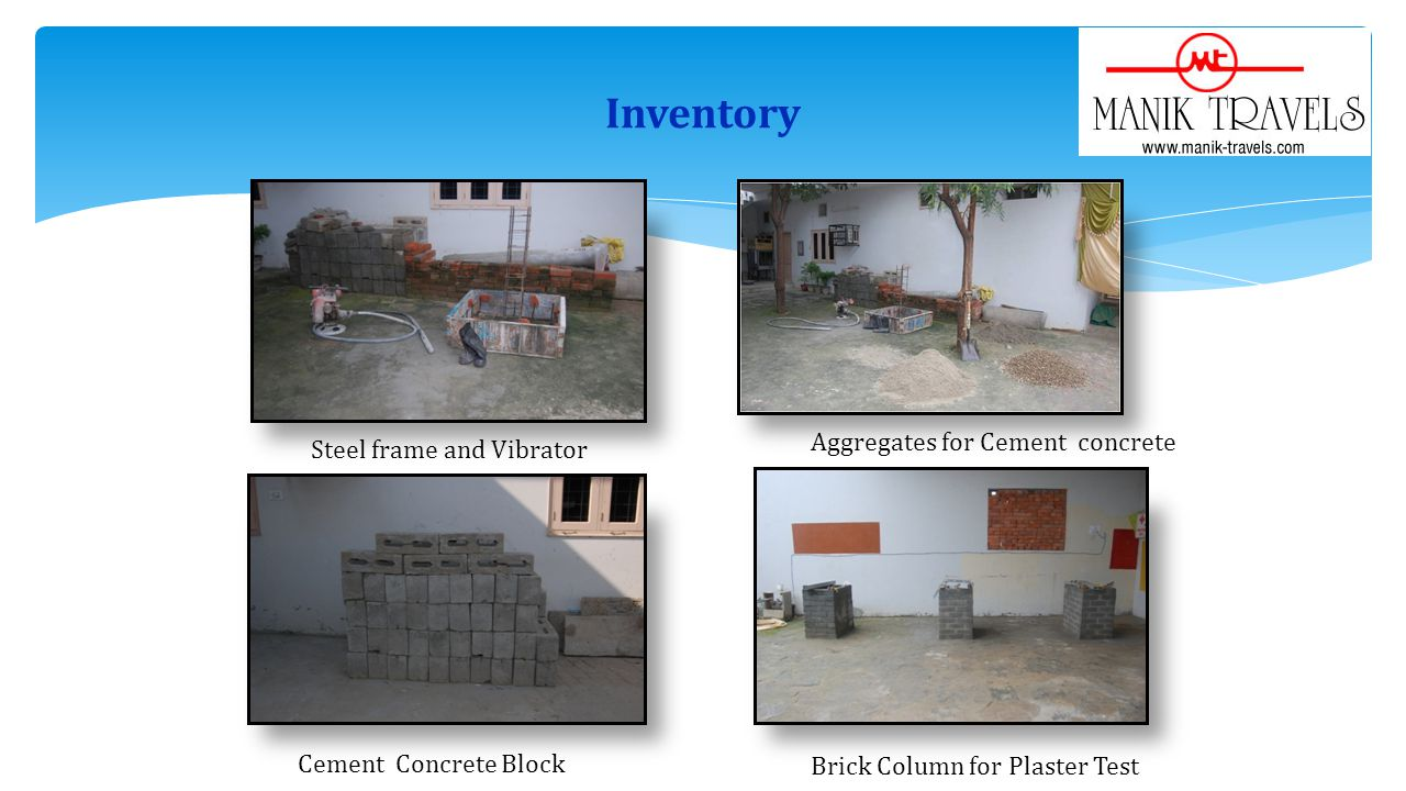 Inventory Steel frame and Vibrator Aggregates for Cement concrete Cement Concrete Block Brick Column for Plaster Test