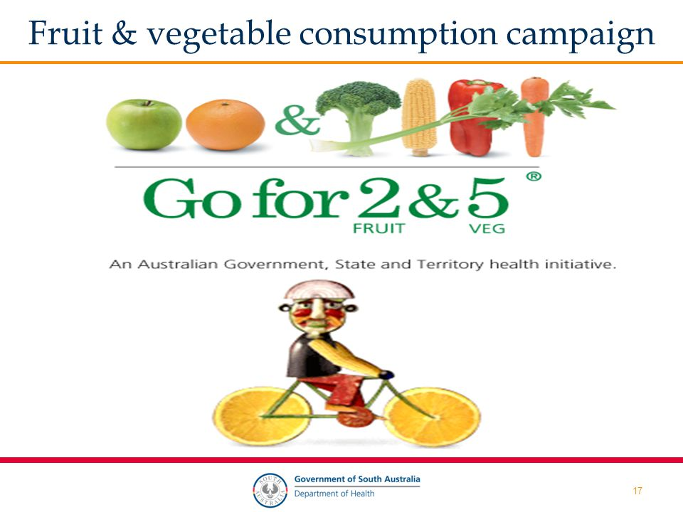 17 Fruit & vegetable consumption campaign