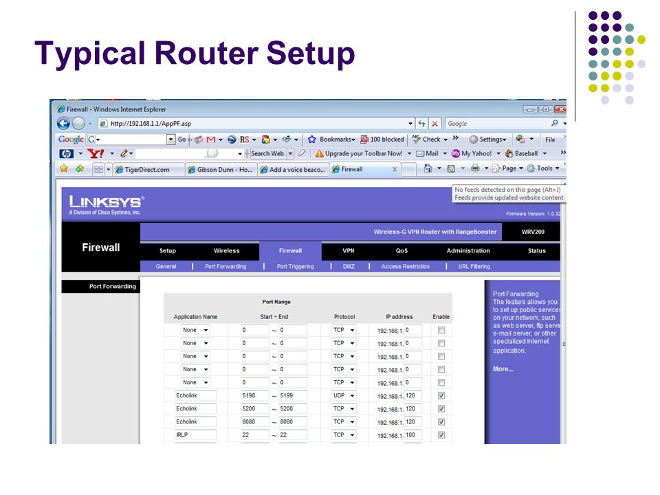 Typical Router Setup