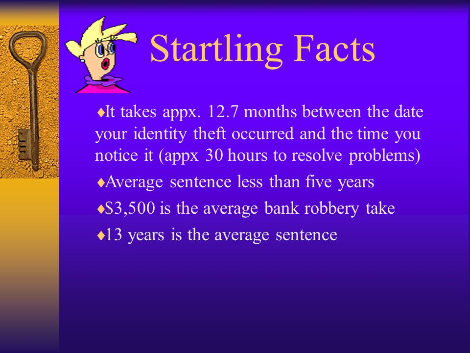 Startling Facts It takes appx.
