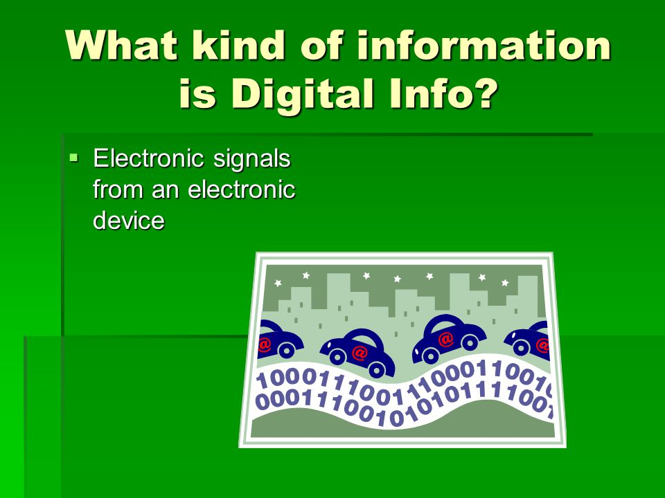 What kind of information is Digital Info.