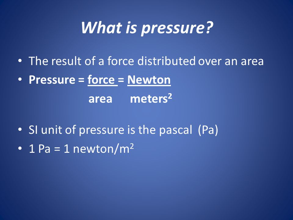 Are you under a lot of pressure? Do you feel a lot of pressure? PRESSURE! Right now, 1000 N of pressure are pushing on the top of your head!