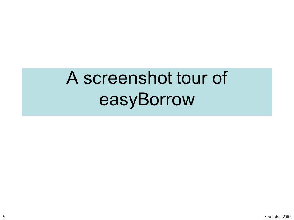 3 october 20075 A screenshot tour of easyBorrow