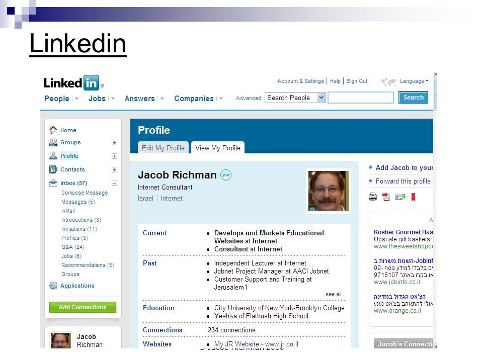 © Jacob Richman 2009 Linkedin