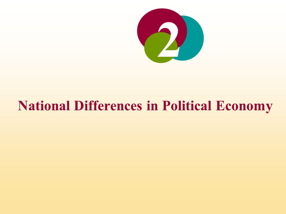 National Differences in Political Economy 2
