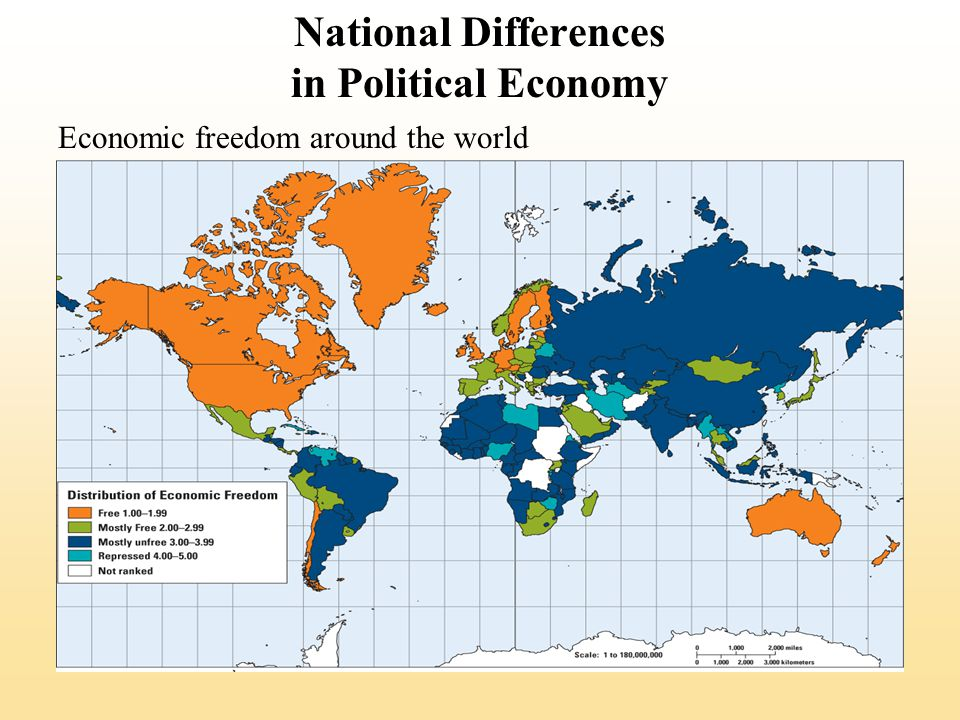 National Differences in Political Economy Economic freedom around the world