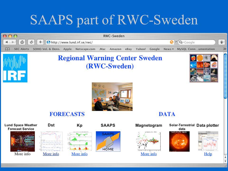 SAAPS part of RWC-Sweden