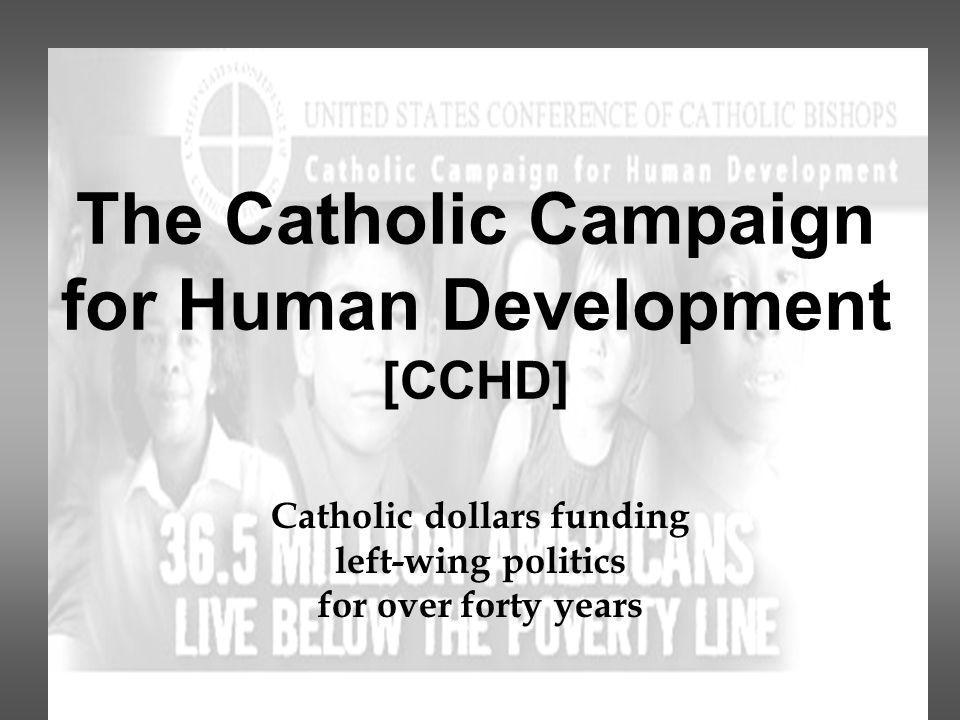that receives donations based on its promise to CCHD is an annual collection help the poor.