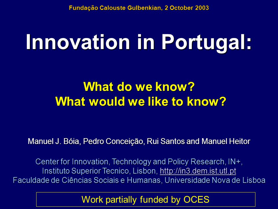 Outline 1.From Catching-up to Forging Ahead… 2.The Third Community Innovation Survey, CIS 3 3.