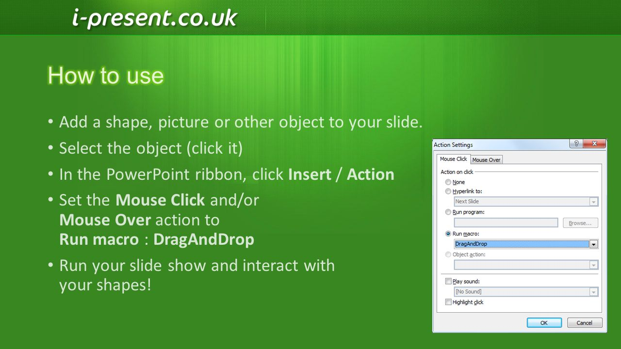 For more Presentation tips, macros and add-ins… Visit us online!