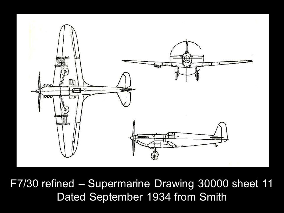 F7/30 refined – Supermarine Drawing 30000 sheet 11 Dated September 1934 from Smith