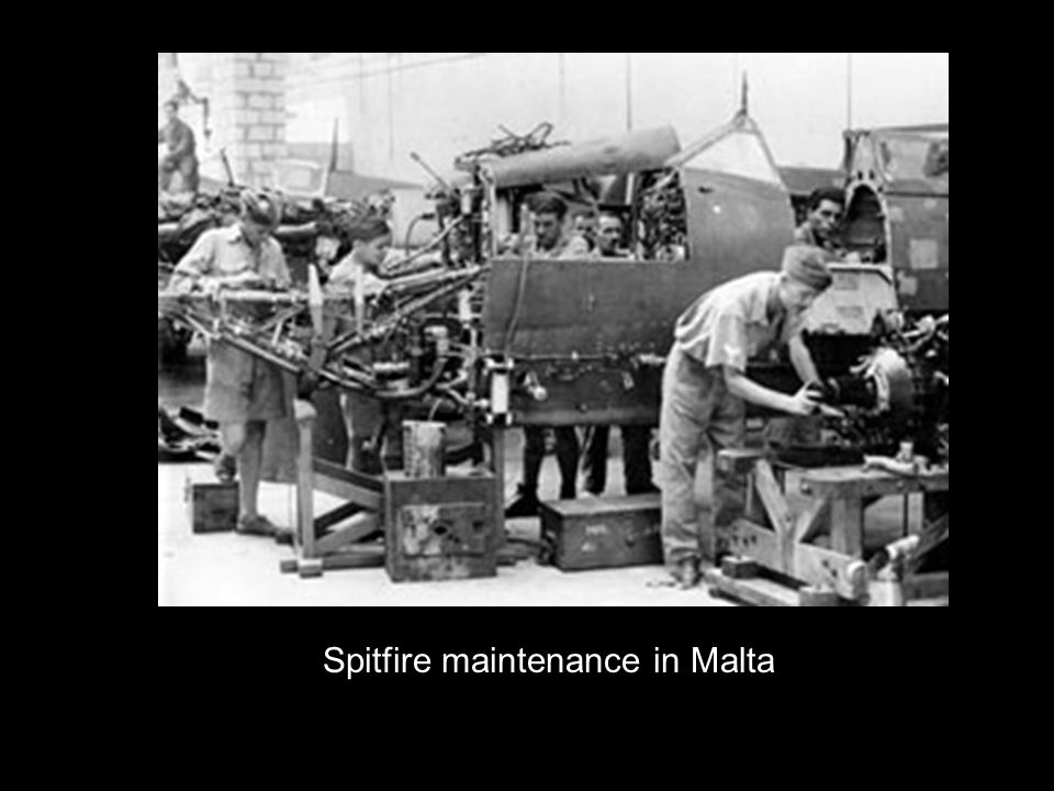 Spitfire maintenance in Malta