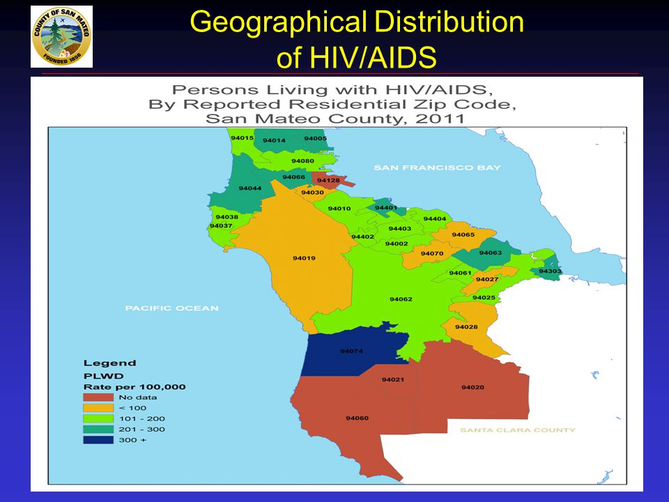 Geographical Distribution of HIV/AIDS