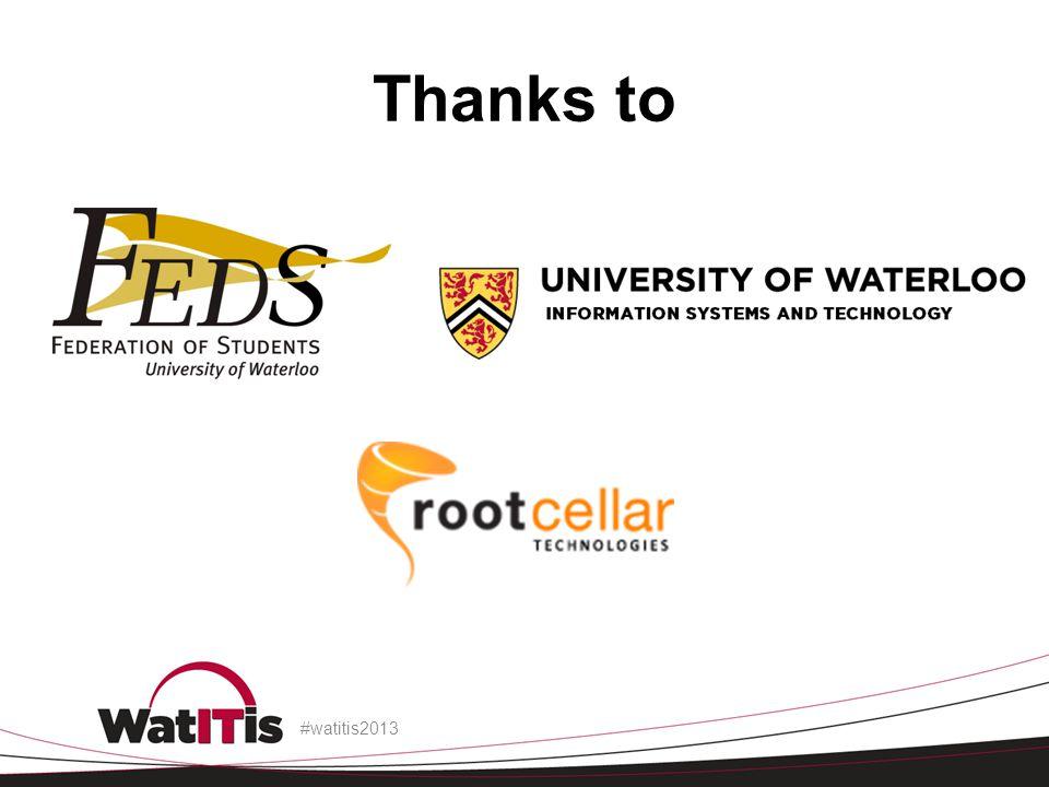Thanks to #watitis2013