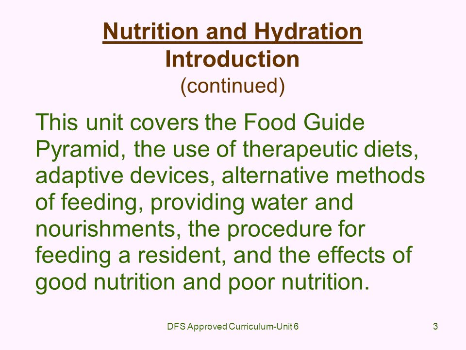 DFS Approved Curriculum-Unit 614 Culture and Dietary Practices (continued) Americans eat a lot of meat, fast foods, and processed foods Use of sauce and spices are culturally related