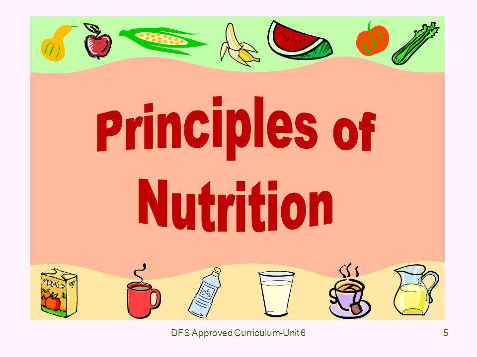 6 6.0Identify the general principles of basic nutrition.