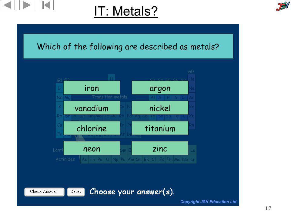 17 IT: Metals?