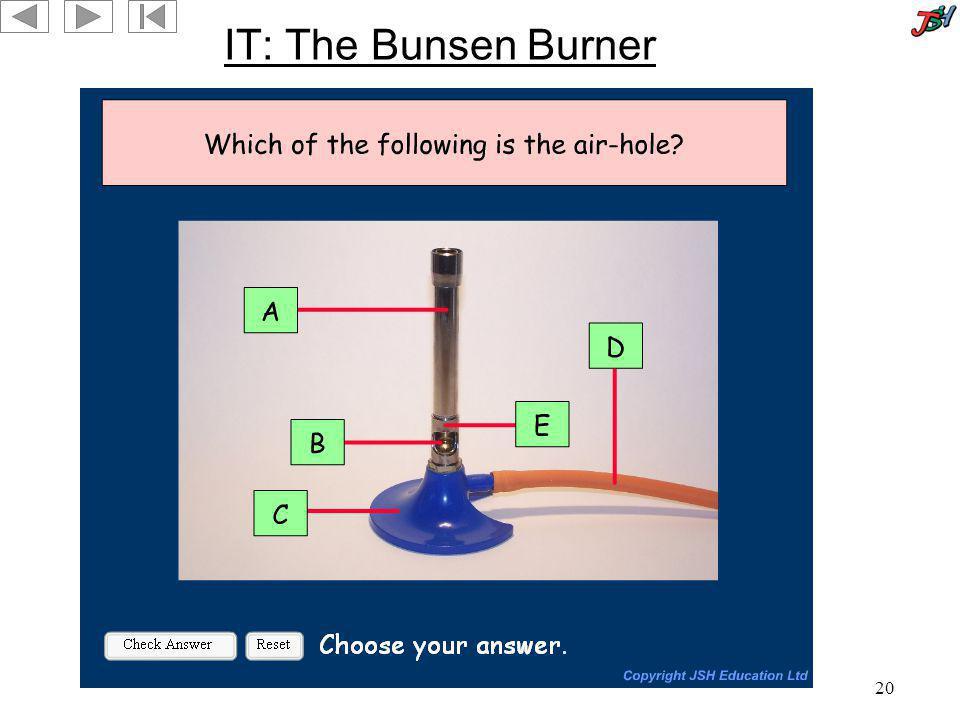 20 IT: The Bunsen Burner