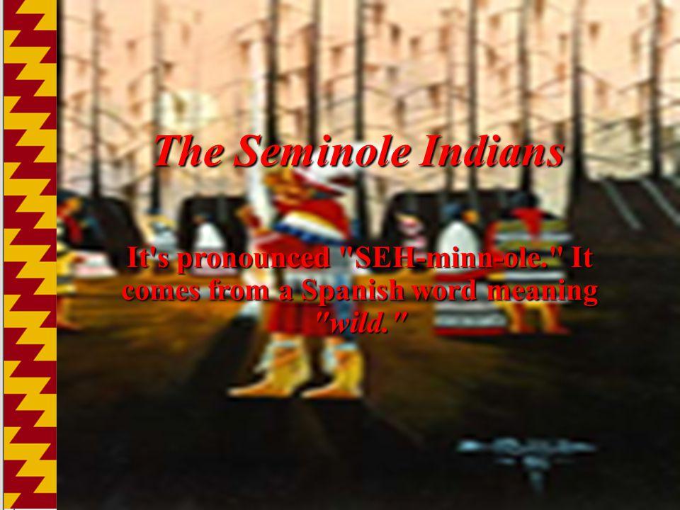 The Seminole Indians It's pronounced