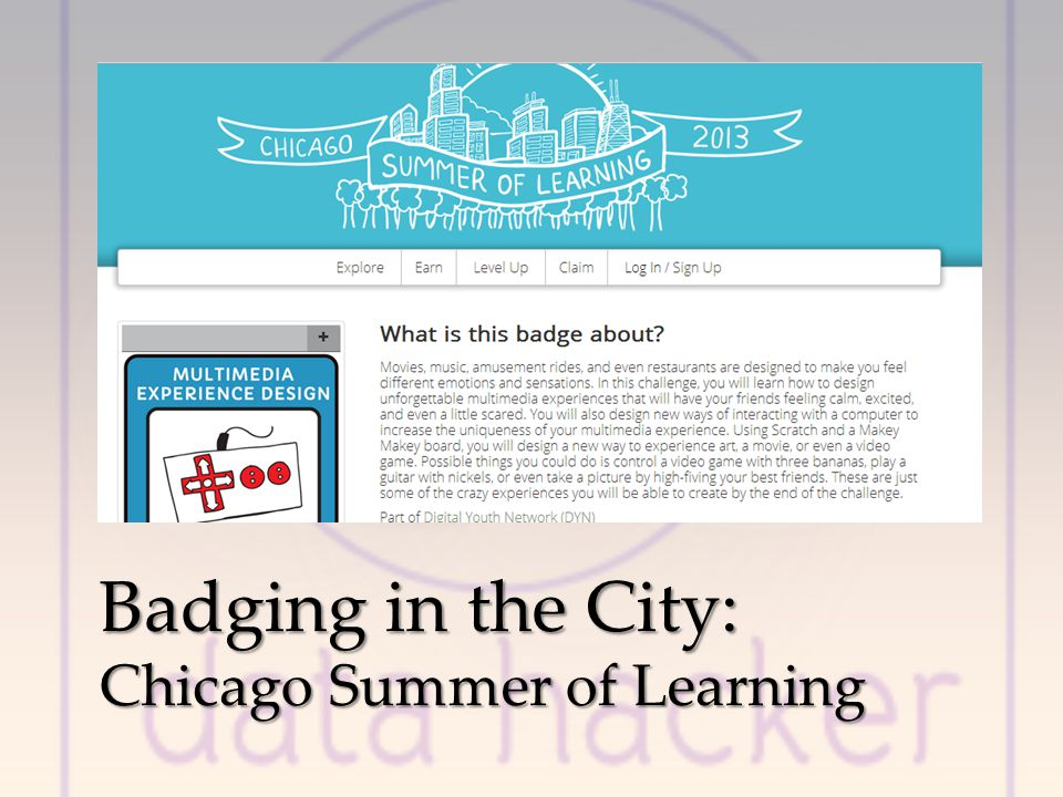 Badging in the City: Chicago Summer of Learning