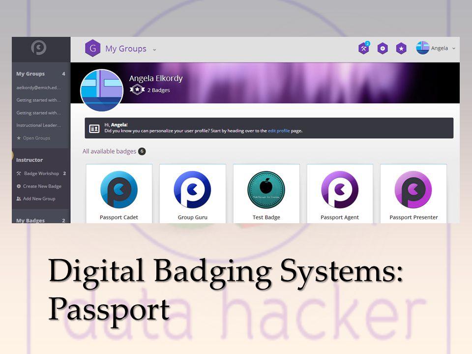 Digital Badging Systems: Passport