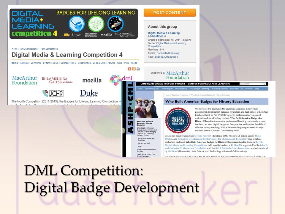 DML Competition: Digital Badge Development