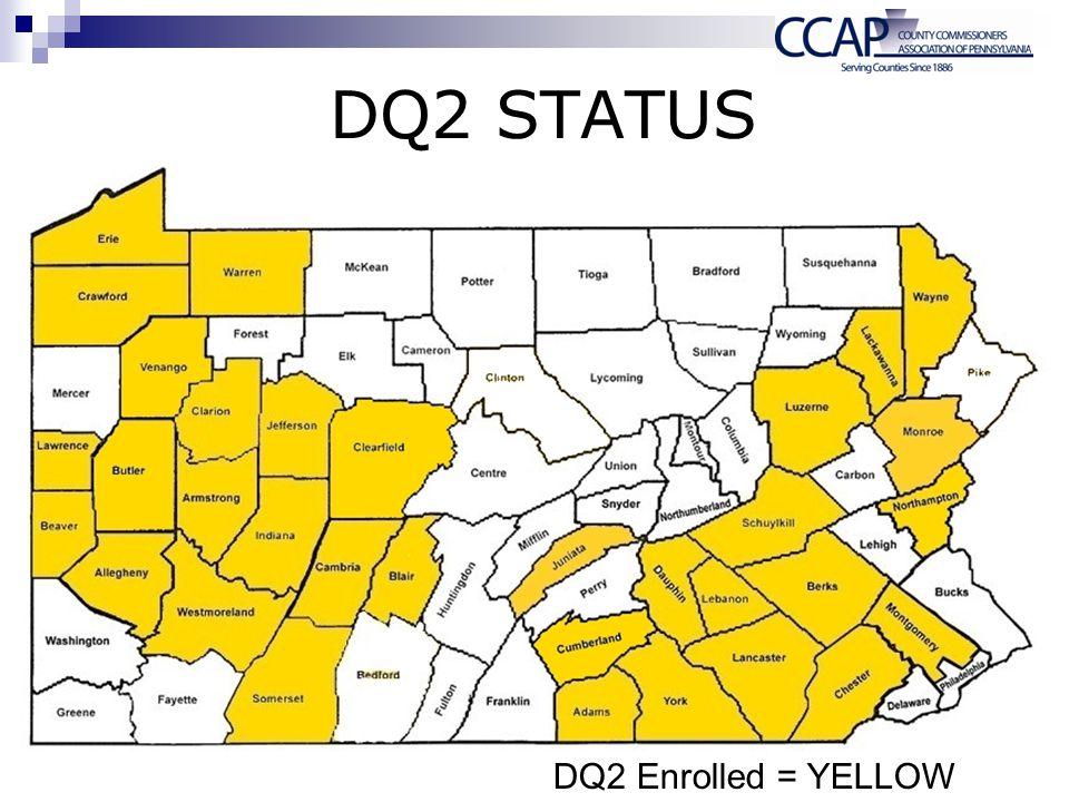 DQ2 STATUS DQ2 Enrolled = YELLOW