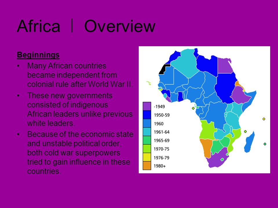 Africa Overview Competing for Influence The U.S.