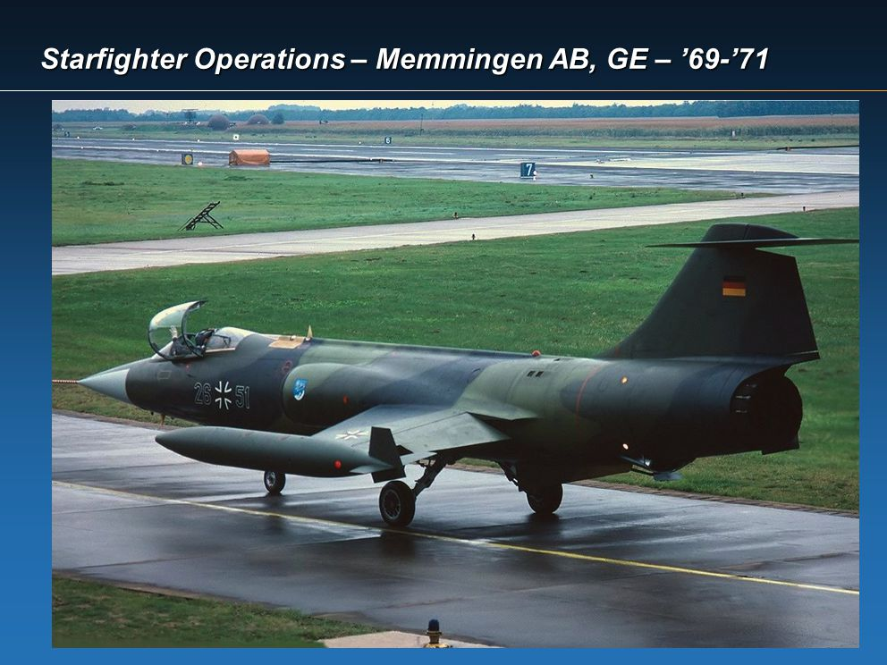 Starfighter Operations – Memmingen AB, GE – 69-71