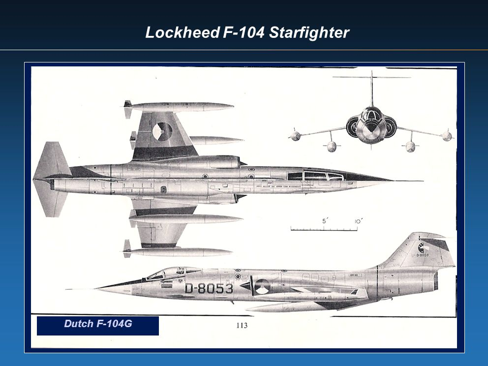 Lockheed F-104 Starfighter Dutch F-104G