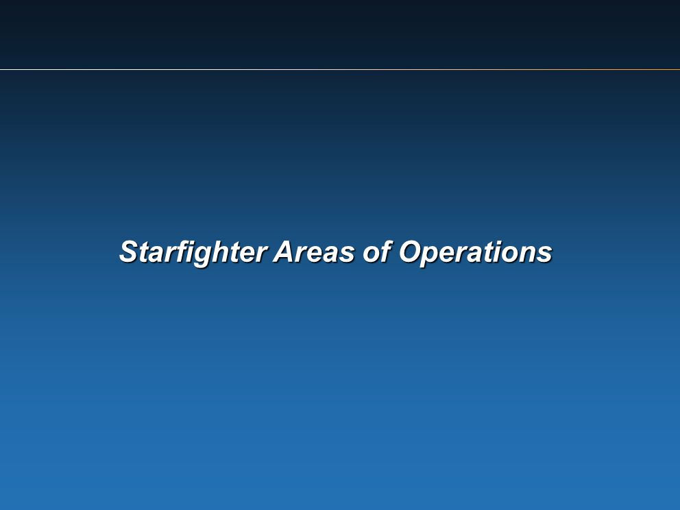 Starfighter Areas of Operations