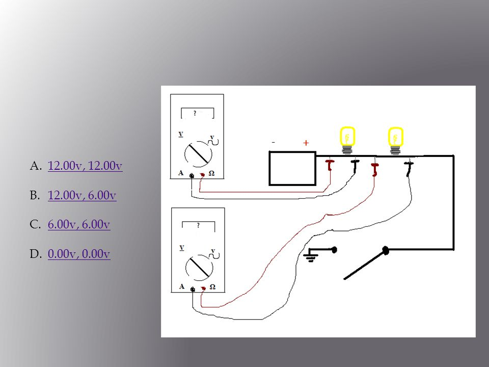 Using your DVOM place you leads on either side of the loads.