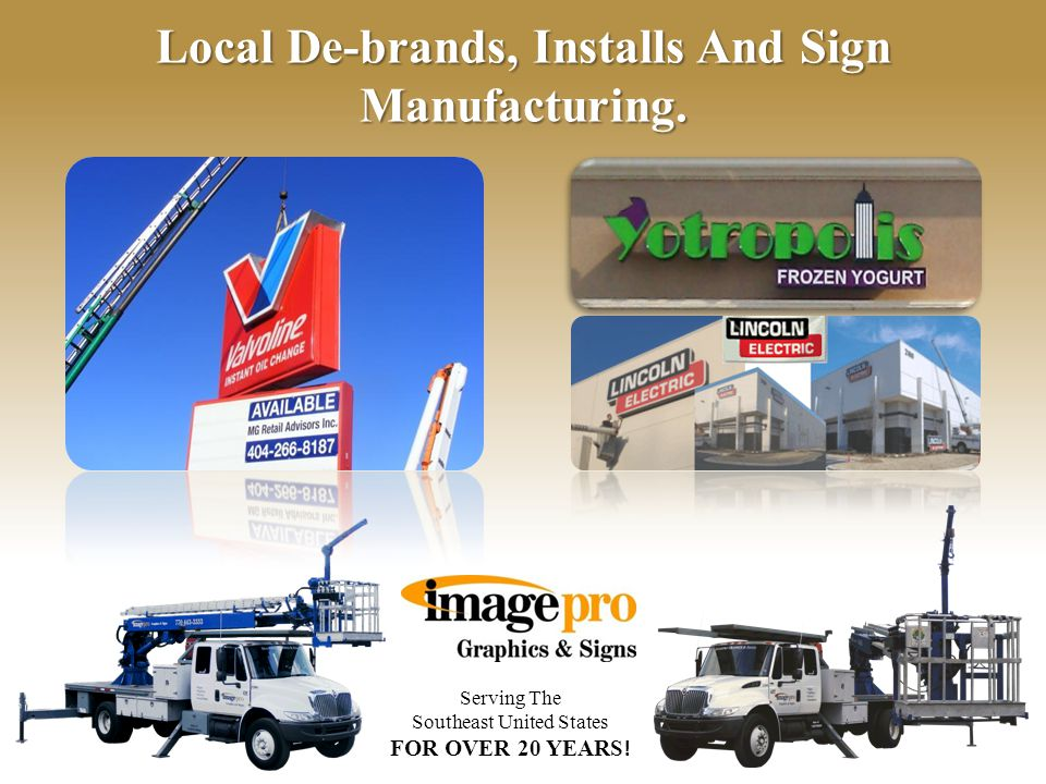 Serving The Southeast United States FOR OVER 20 YEARS ! Service And Upgrades on All Major Franchises Across The Southeast.