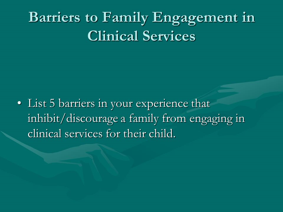 Elements of the Engagement Process 2 Develop the foundation for a collaborative working relationship… Balance the need to obtain intake information (agency assessment, insurance forms, etc.) with helping the child and family to tell their own story about why they have come.Balance the need to obtain intake information (agency assessment, insurance forms, etc.) with helping the child and family to tell their own story about why they have come.