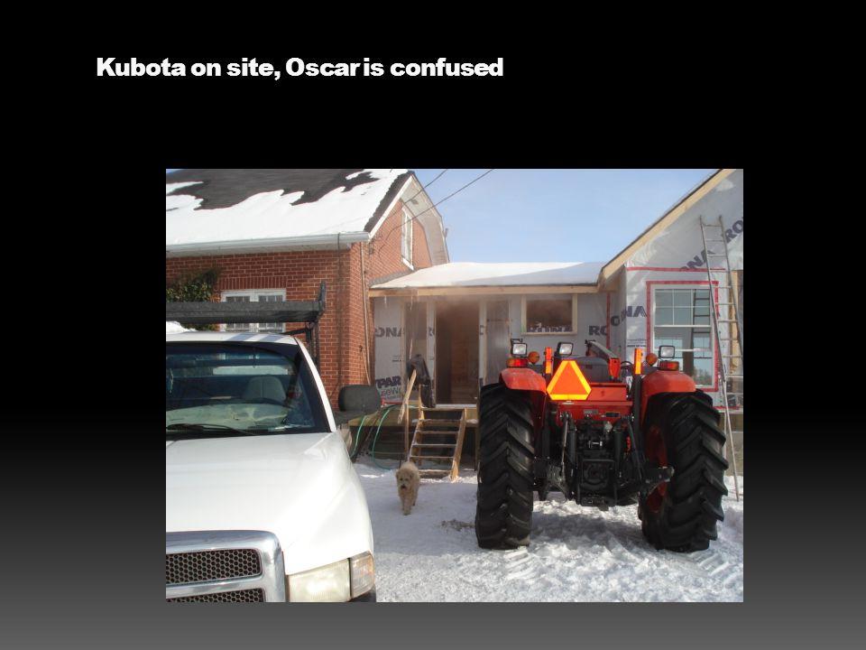 Kubota on site, Oscar is confused