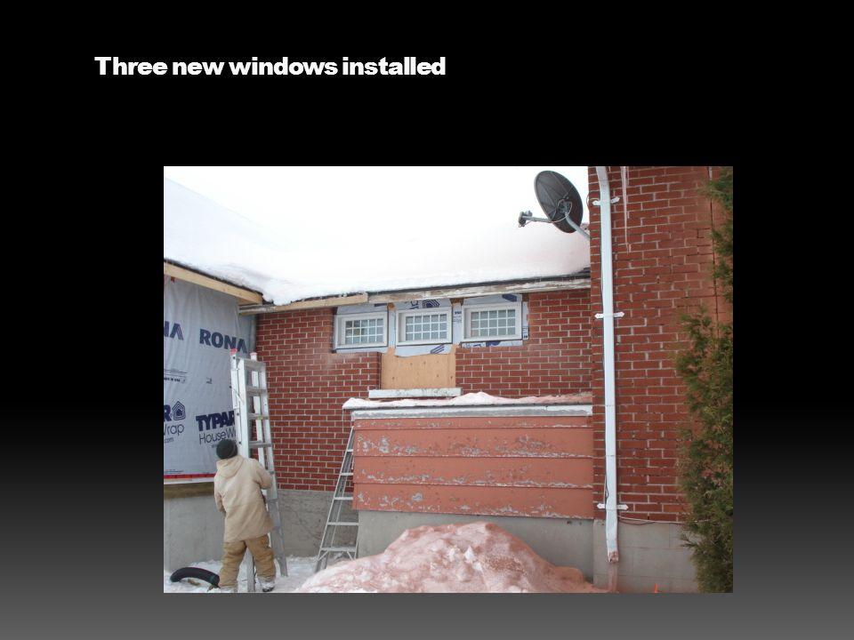 Three new windows installed