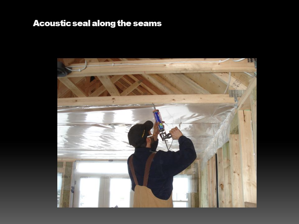 Acoustic seal along the seams