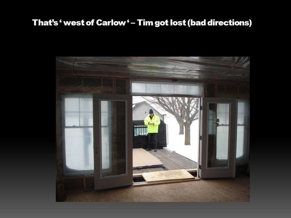 Thats west of Carlow – Tim got lost (bad directions)